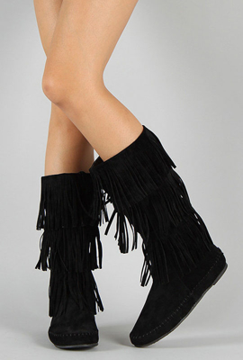 Picture of UrbanOG Black-fringe boots