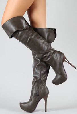 Picture of UrbanOG Kneehigh Leather Boots