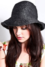 Picture of Black Summer Knitted Hat