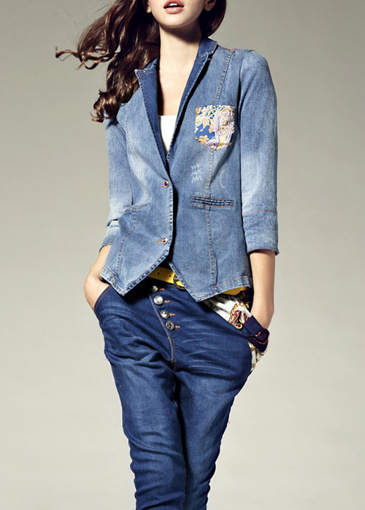 Picture of Elegant Patchwork Silk Short Jacket